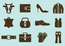 Free vector Leather Vector Icons #28925
