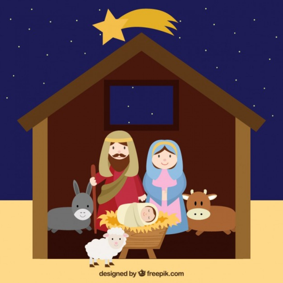 lovely nativity scene source freepik license free for commercial use ...