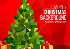 Free vector Low poly christmas background #30996