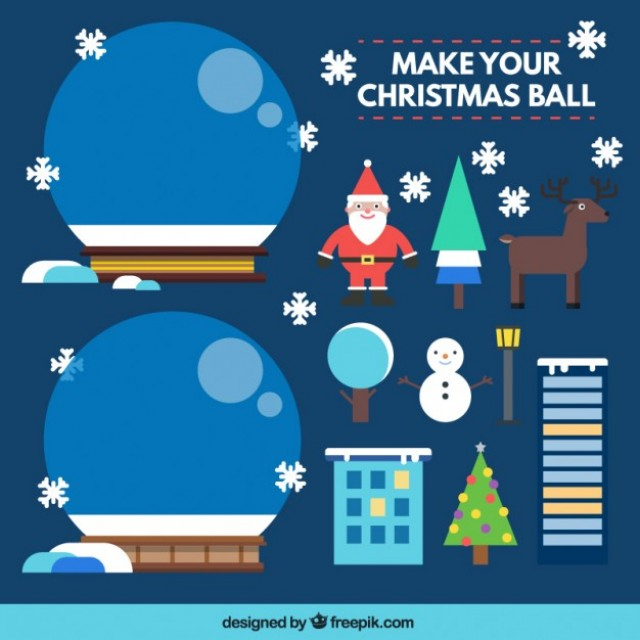 Free vector Make your christmas ball #34084