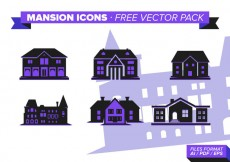 Free vector Mansion Icon s Free Vector Pack #29512
