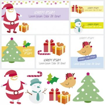 Free vector Merry chistmas cards #34086