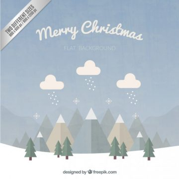 Free vector Merry christmas background in flat design #34177