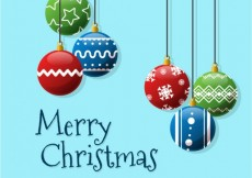Free vector Merry christmas baubles background #33376