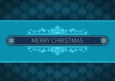 Free vector Merry christmas blue background #29344