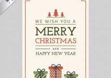 Free vector Merry christmas card in vintage style #28922