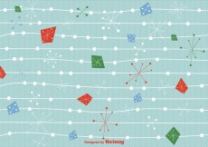 Free vector Mid century christmas background vector #29310