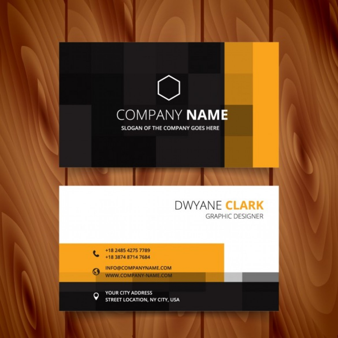Free vector Modern business card with pixelated style #34253