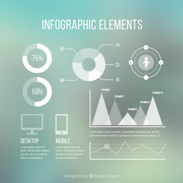 Free vector Modern infographic elements #32526