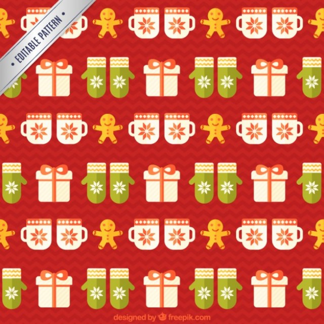 Free vector Nice christmas pattern #34149