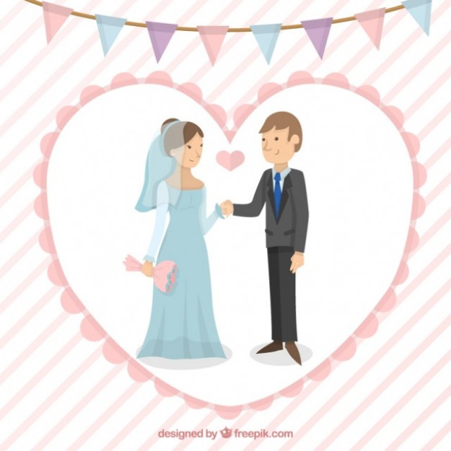 Free vector Nice wedding couple #33611
