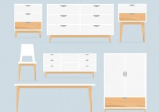 Free vector Nordic furniture collection #33703