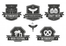 Free vector Oktoberfest Label Set #28636