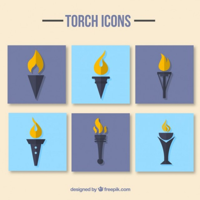 Free vector Pak of torch icons #32478