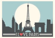 Free vector Paris Vector Background #34308