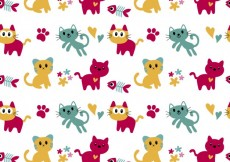 Free vector Pattern with cute cats #34113