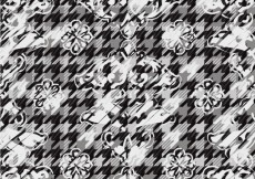 Free vector Pattern with flowers and houndstooth #30278