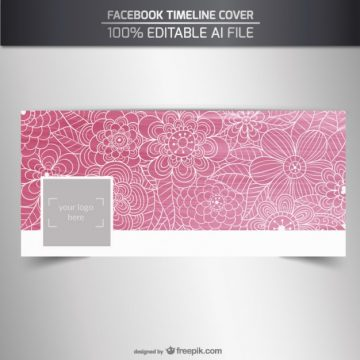 Free vector Pink floral facebook cover #32622