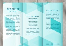 Free vector polygonal trifold template #30190