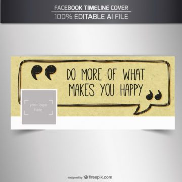 Free vector Positive facebook cover #32692