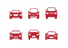 Free vector Red Car Front Silhouettes #34142