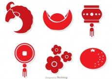 Free vector Red Chinese Lunar New Year Vectors #29929