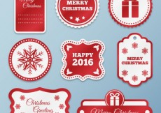 Free vector Red christmas labels #29905