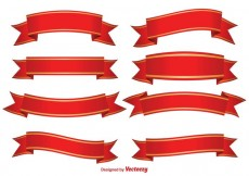 Free vector Red Decorative Banners #33899