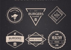 Free vector Restaurant logos collection in retro style #31212