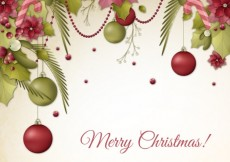 Free vector Retro floral christmas background #28639