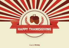 Free vector Retro Thanksgiving Background Illustration #30588