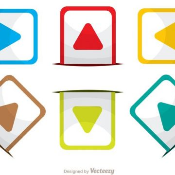Free vector Rounded Square Arrow Icons Vector Pack #34608