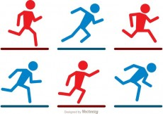 Free vector Running Stick Figure Icons Vector Pack #33574