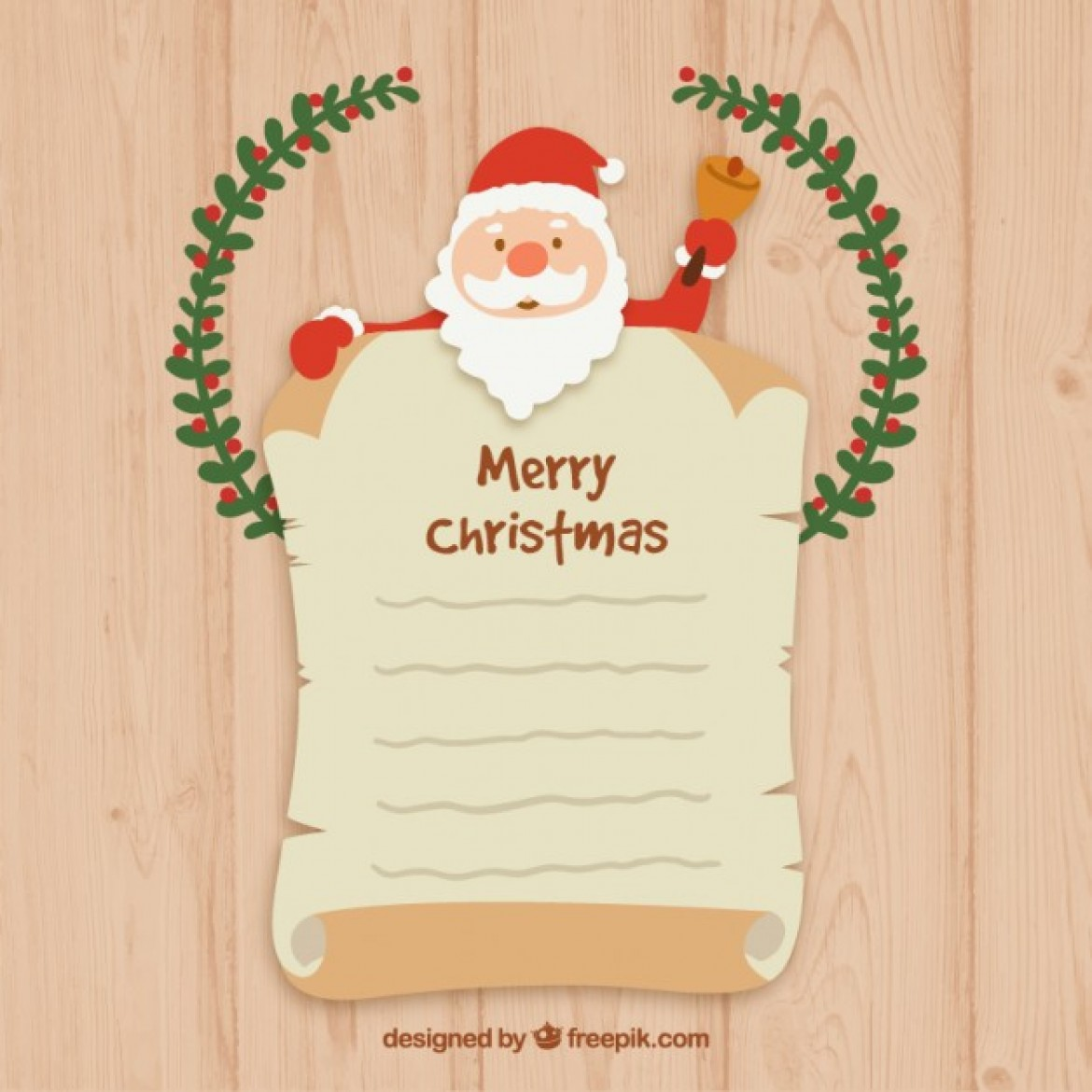 Free vector Santa claus letter template #30128 | My Graphic Hunt