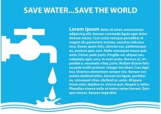 Free vector Save Water Illustration #33155