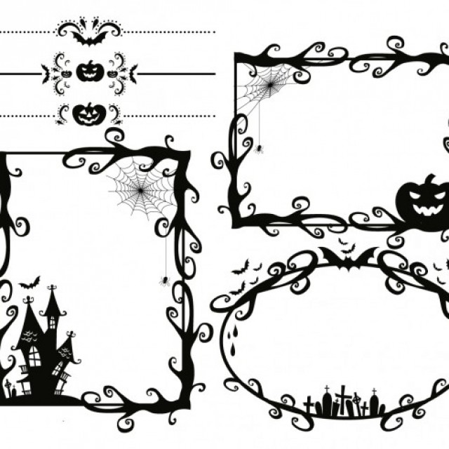 Free vector Scary Halloween frames #29519