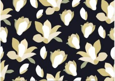 Free vector Seamless Black Floral Background #30269