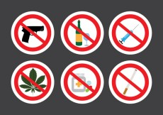 Free vector Set of Prohibition Signs in Vector #28480