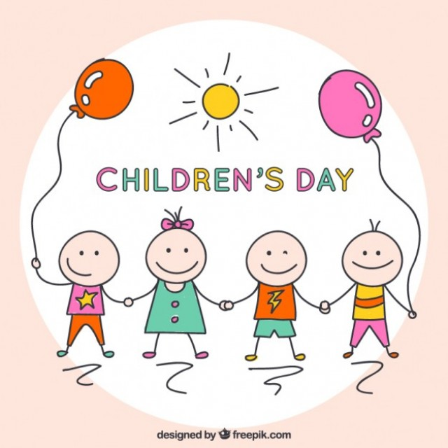Free vector Sketchy children's day card #33801
