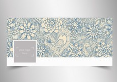 Free vector Sketchy natural facebok cover #32618
