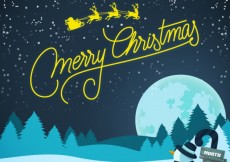 Free vector Snowy christmas background #29596