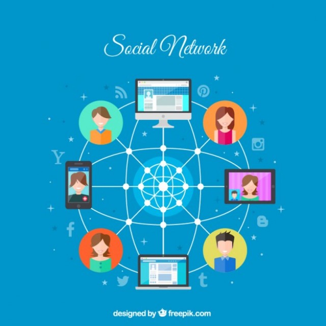 Free vector social network connection #28609