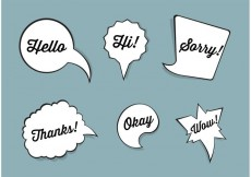 Free vector Speech bubble vector set #34190