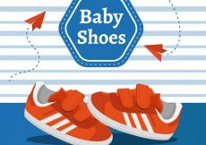 Free vector Sporty baby shoes #34449