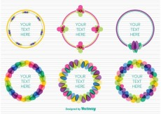 Free vector Spring colourful frames #30253