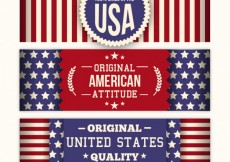 Free vector Striped american banners #31349