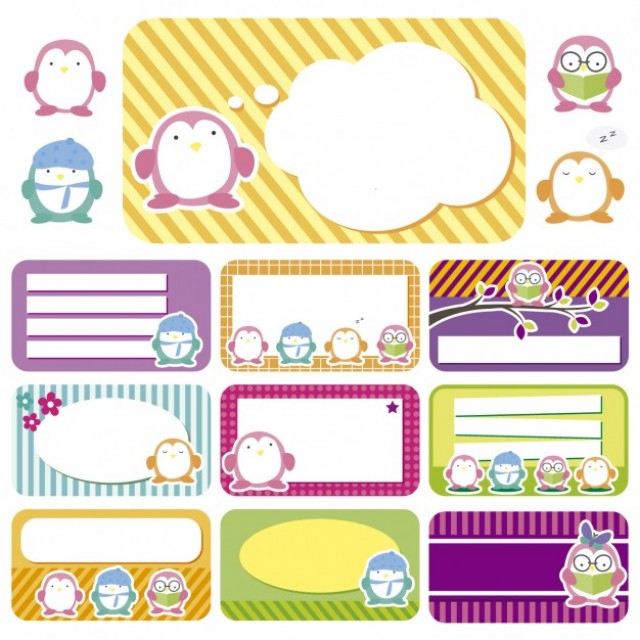 Free vector Tags with owls #34004