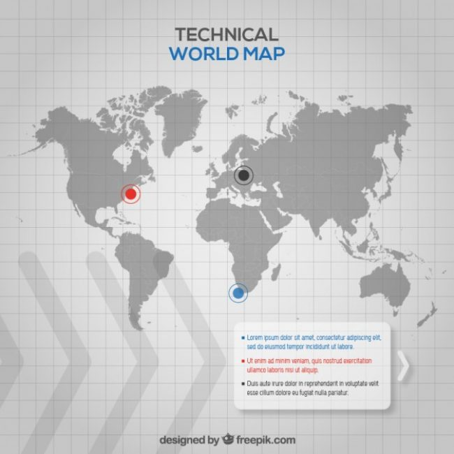Free vector Technical World Map #33328