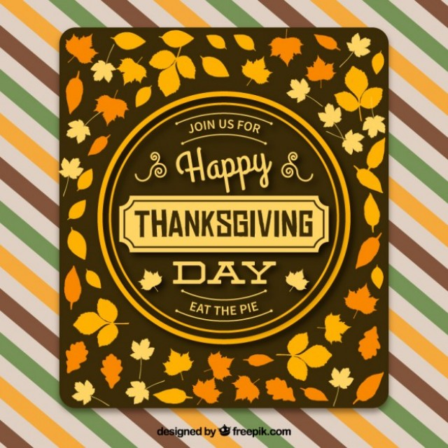 Free vector Thanksgiving Greeting Banner #33733