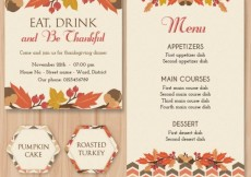 Free vector Thanksgiving stationery #33430